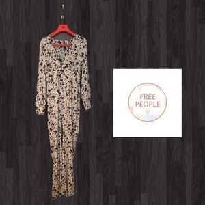 Free People Floral Jumpsuit Size 4